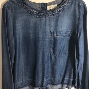 Cloth and Stone denim top Anthropologie